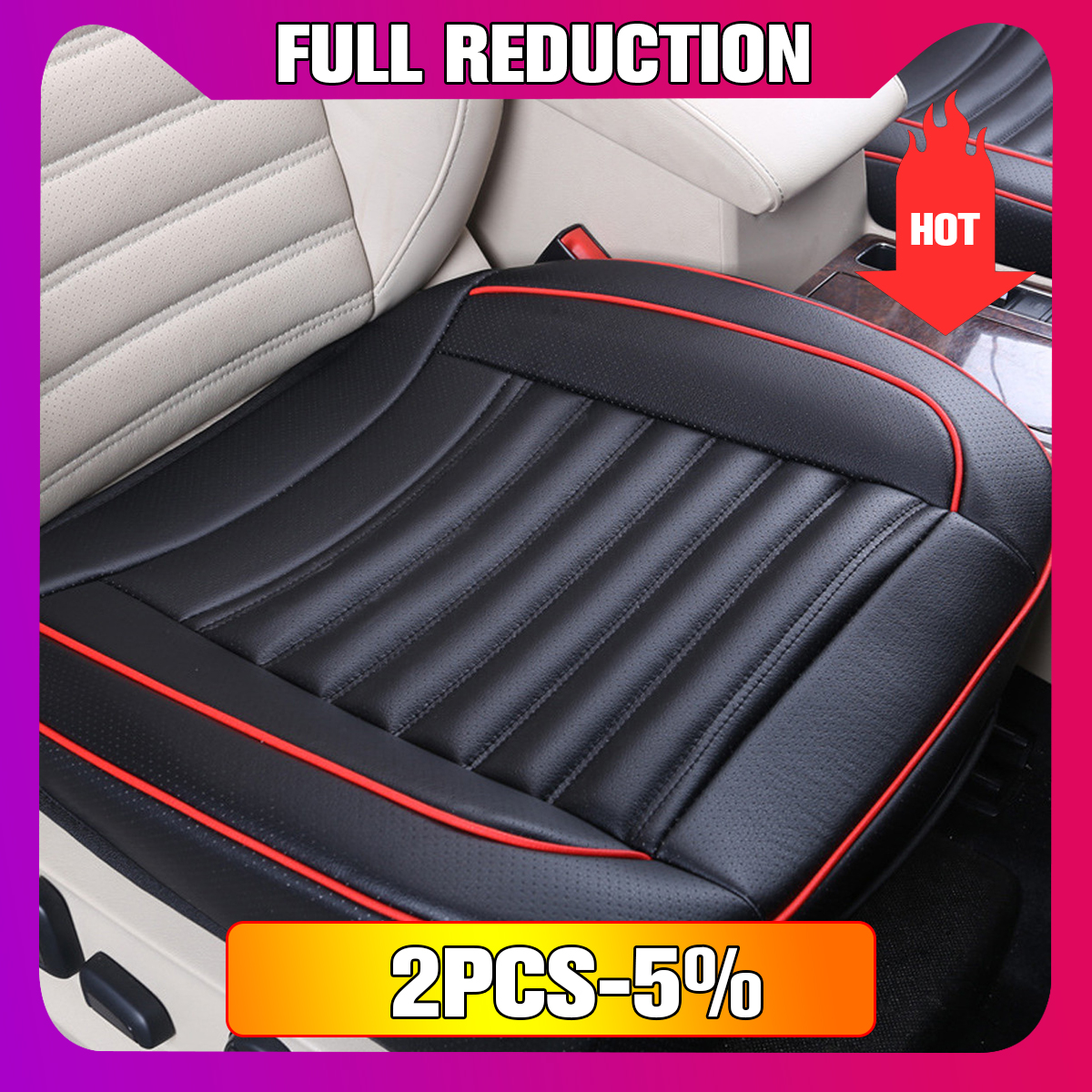 PU Leather Car Seat Chair Cover Pad Full Surround Cushion