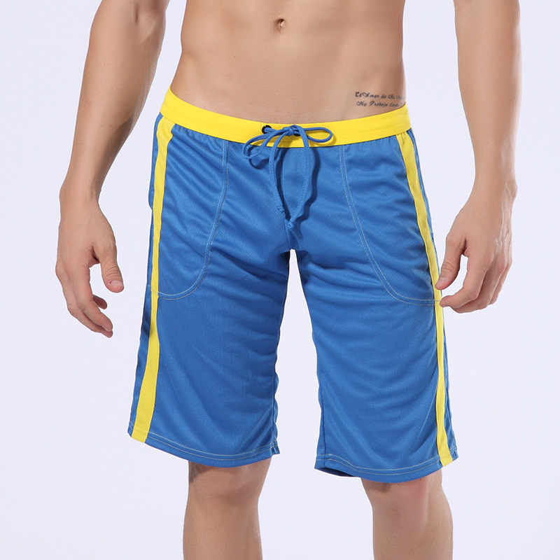 WANGJIANG Men's Polyester Sweatpants Summer Shorts Casual Beach Fitness Shorts