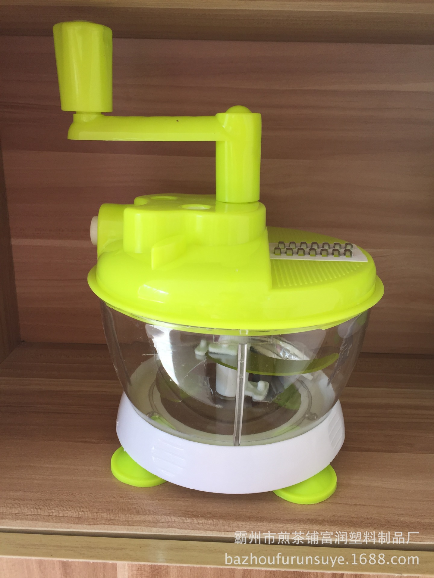 Small Apple Food Processor Multi-function Chopper Hand-cranked Cutting Machine Gift Recording