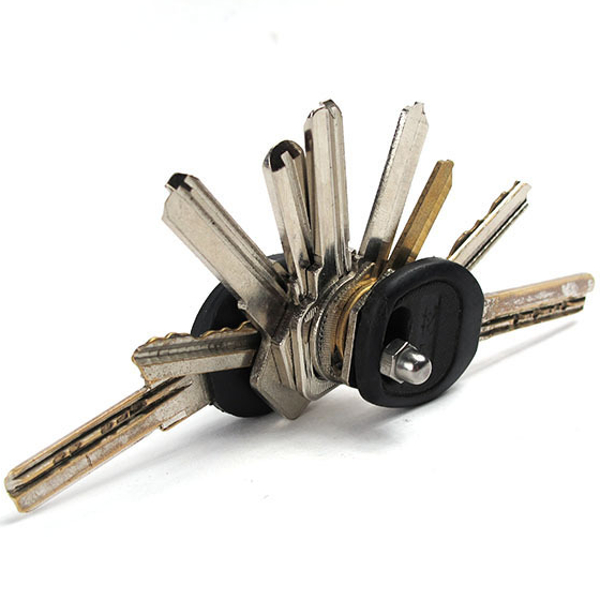 Stainless Steel Straight Key Storing Clip DIY Keychain Storage Tools EDC Gadget