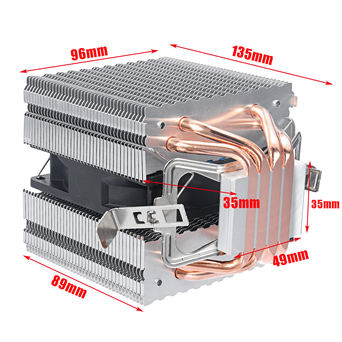 Aluminum LED CPU Cooler Cooling Fan Heat Sink For Intel LAG1156/1155/1150/775 AMD