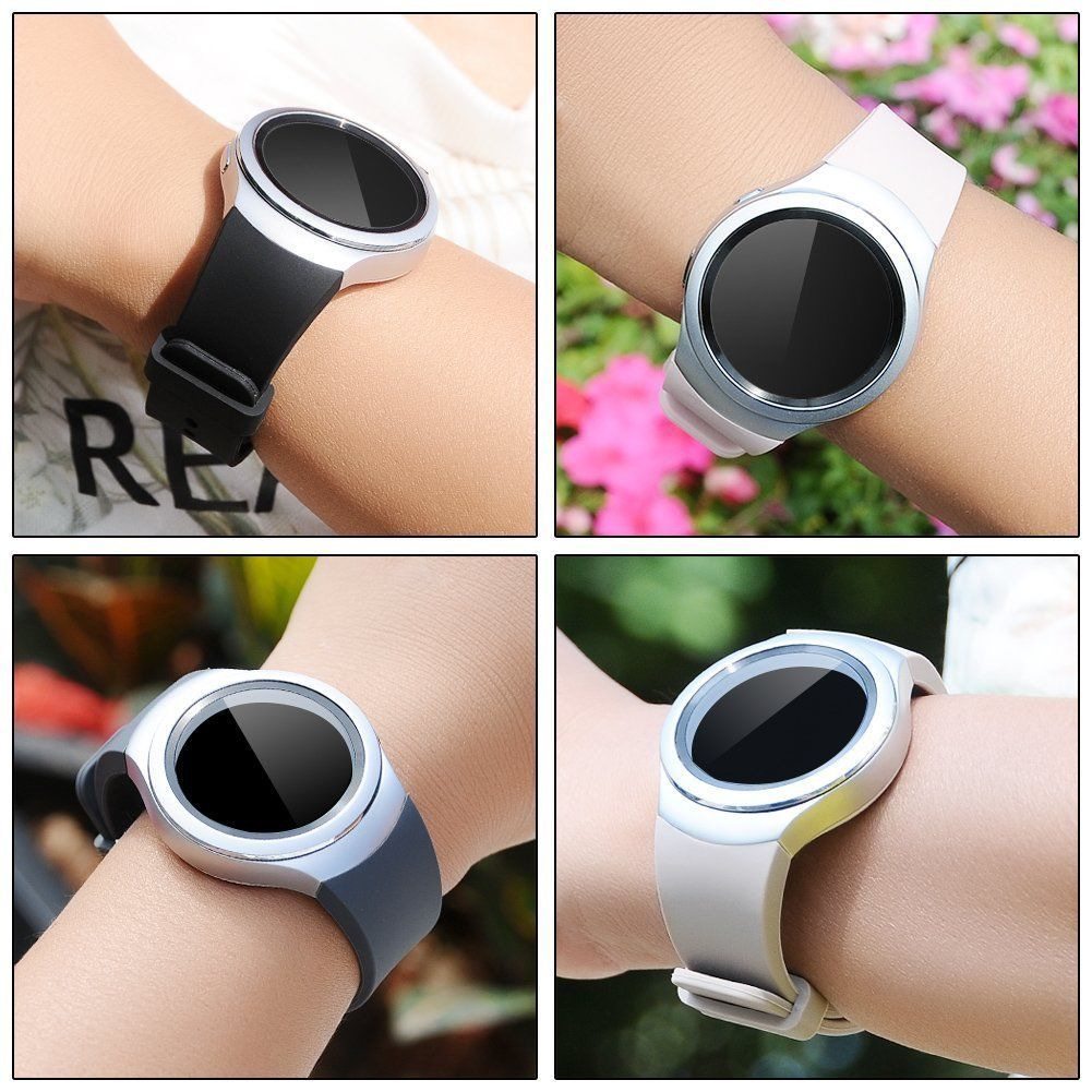 Smart Watch Band Solid Color Wrist Strap for Samsung Gear S2 Classic
