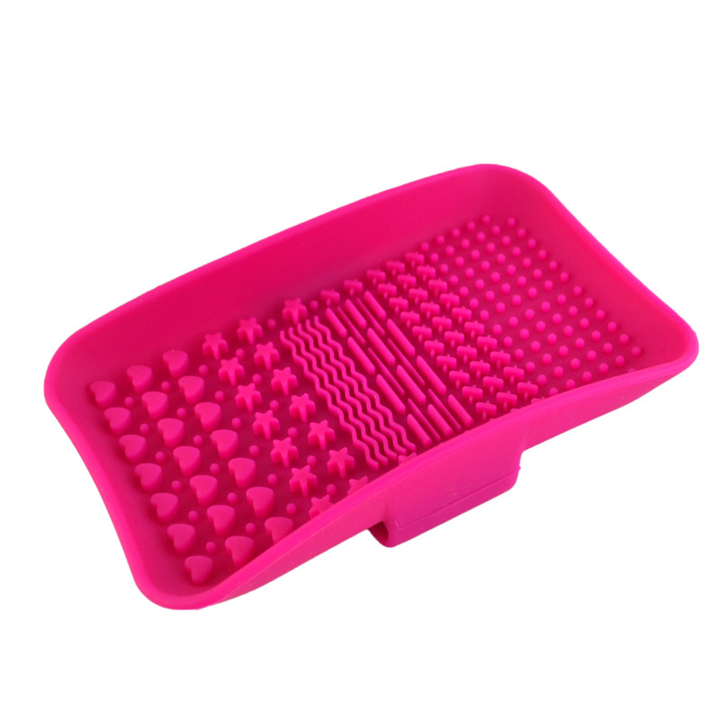 Square Silicone Square Makeup Brush Washing Pad Cosmetic Beauty Makeup Tools