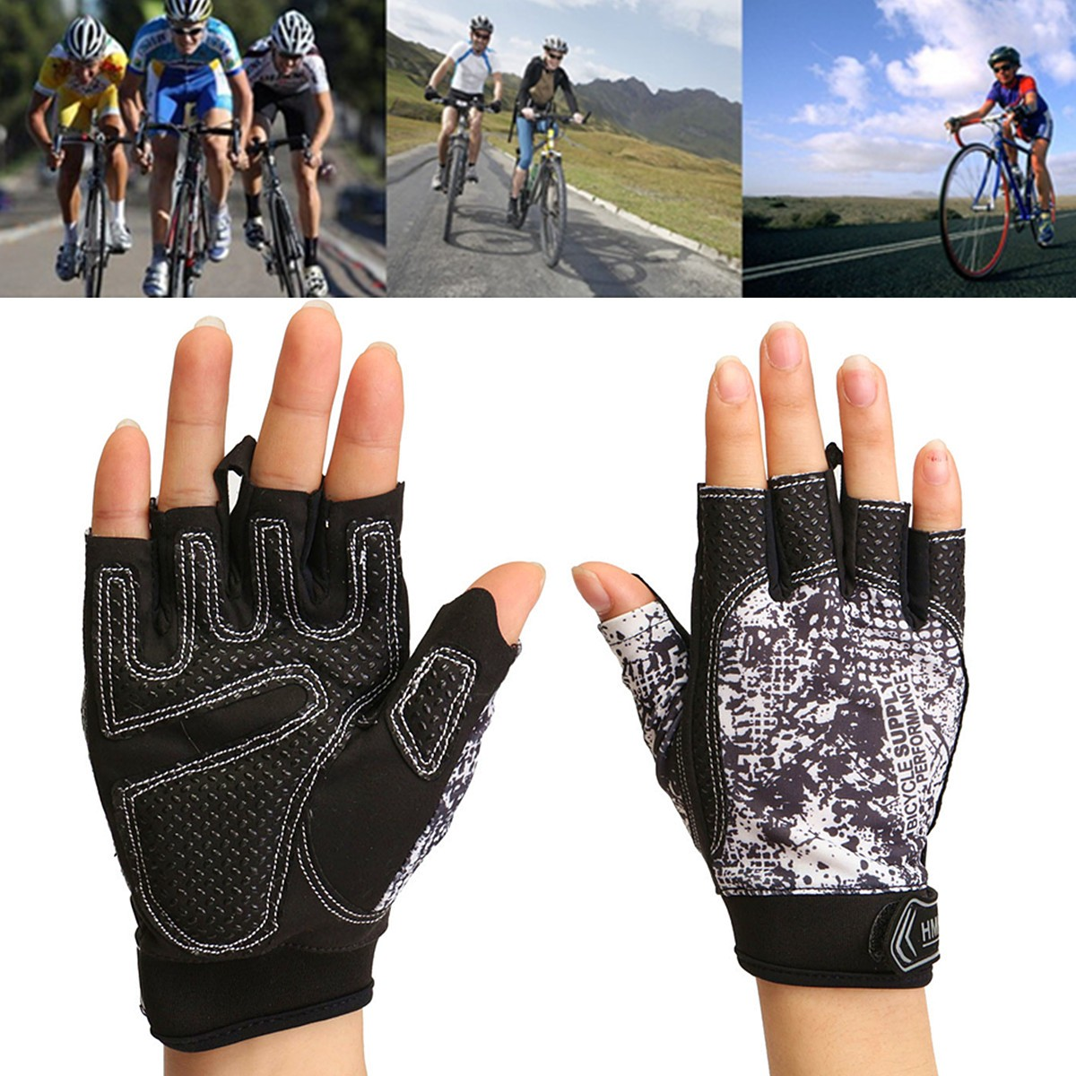 Half Finger Gloves Motorcycle Bike Cycling Camouflage Fingerless Sports Outdoor