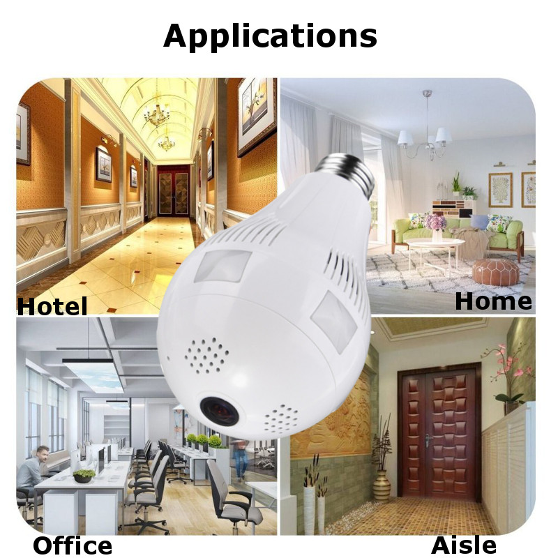 E27 360° 1.3MP 2MP 3MP WIFI Hidden IR Camera Light Bulb for CCTV Security