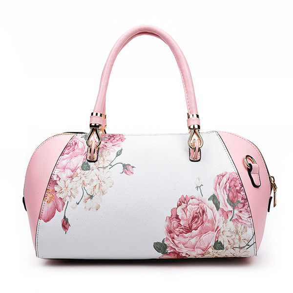 Women Elegant Flower Shell Bags Ladies Folk Custom Shoulder Bags Trible Crossbody Bags
