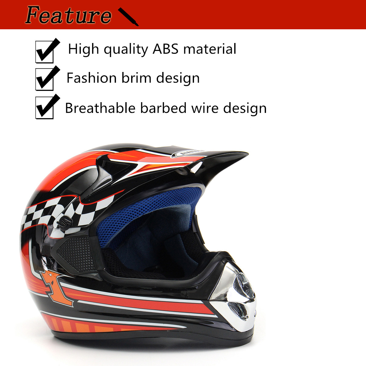 Full Face Protective Safety Adult Motorcycle Helmet Flip Up Sun Shield Cover