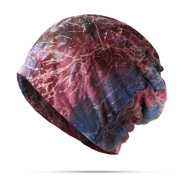 Women Cotton Skull Beanie Hats Good Elastic Stretch Multi-function Collar Warm Scarves