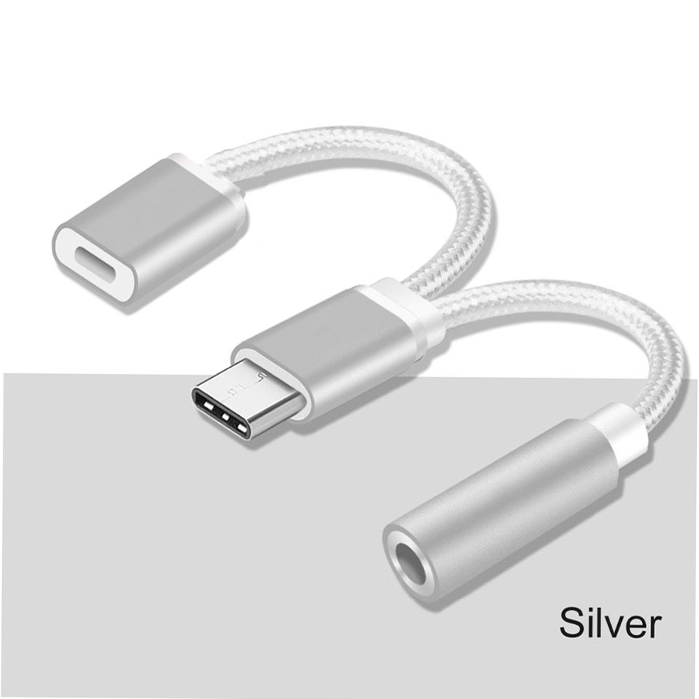 Bakeey 2 In 1 Type C To 35mm Audio Jack Charger Adapter Headphone Xiaomi Micro Usb 31 Converter Original Cable For