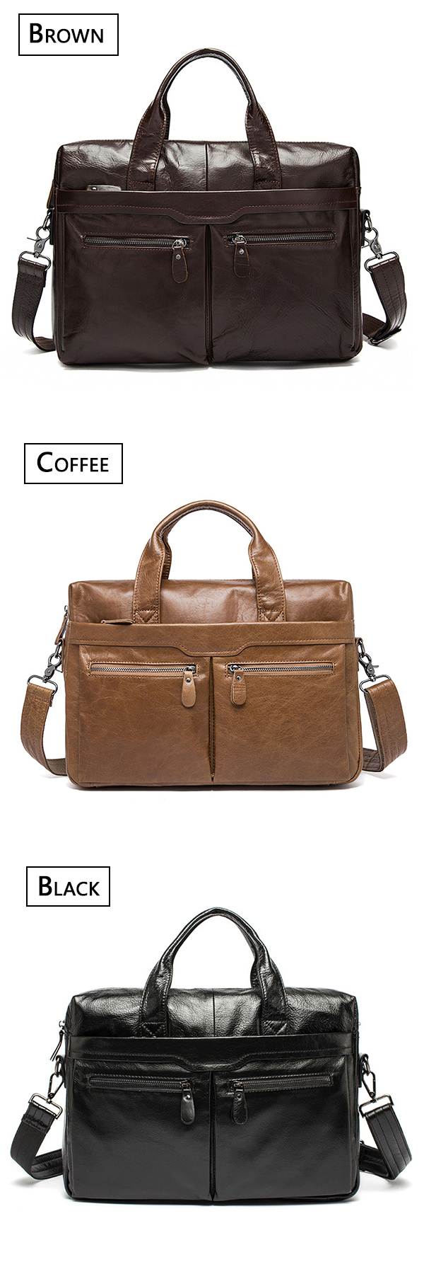 Men Genuine Leather Leisure Business Handbag Crossbody Bag Multifunctional Large Capacity Briefcase