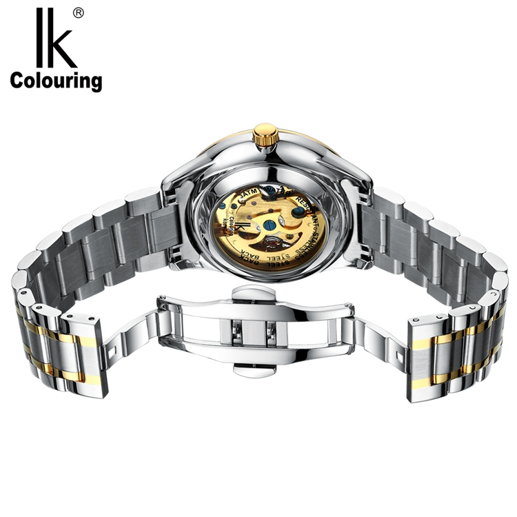 IK COLOURING K004 Bussiness Style Male Wacth Rose Golden Auto Mechanical Wristwatch