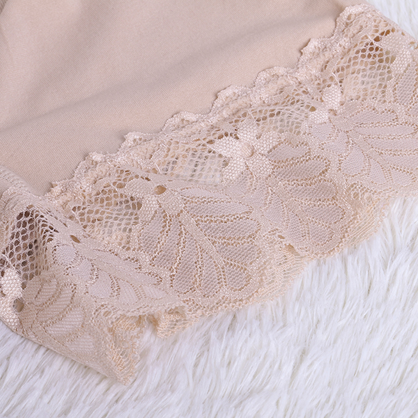 Soft Comfortable Lace Solid Color Stretchy High Waist Boyshorts