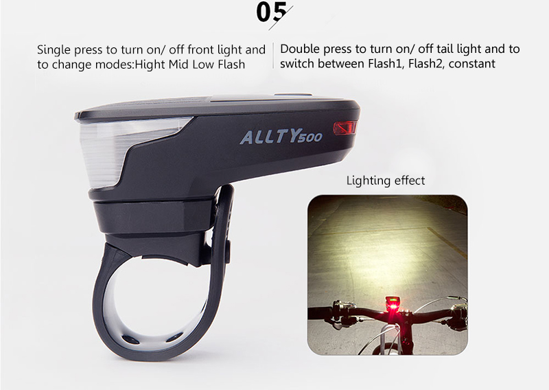 Magicshine Allty 500 Mini 500 Lumen USB Rechargeable Bicycle Light Bike Headlight Cycling Led Light
