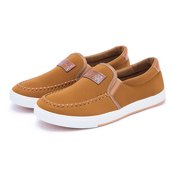 087597c2506 New Men Canvas Shoes Breathable Slip-on Fashion Recreational Sneaker Casual  Shoes