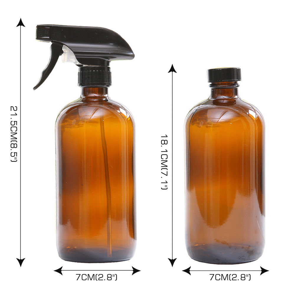 500ml Amber Glass Spray Refillable Bottles