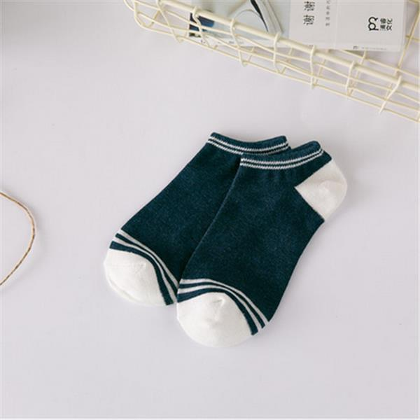 1Pair Women Cotton Stripe Socks Girls Cute Patchwork Invisible Boat Socks
