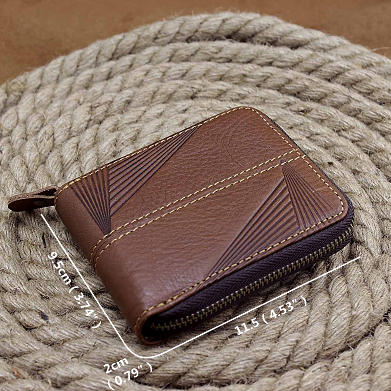 Men Genuine Leather Minimalist Fashion License Holder Wallet