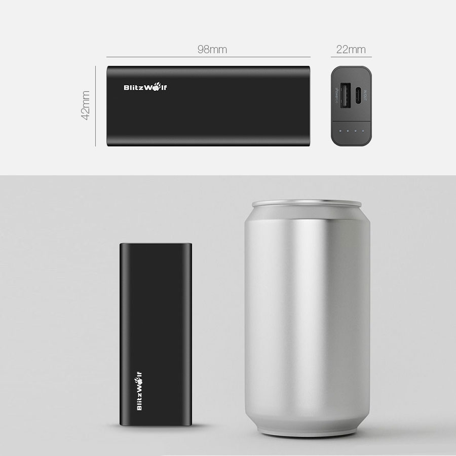 BlitzWolf PowerStorm BW-PF1 6700mAh 13W Dual USB Power Bank with Type-C Input and Output