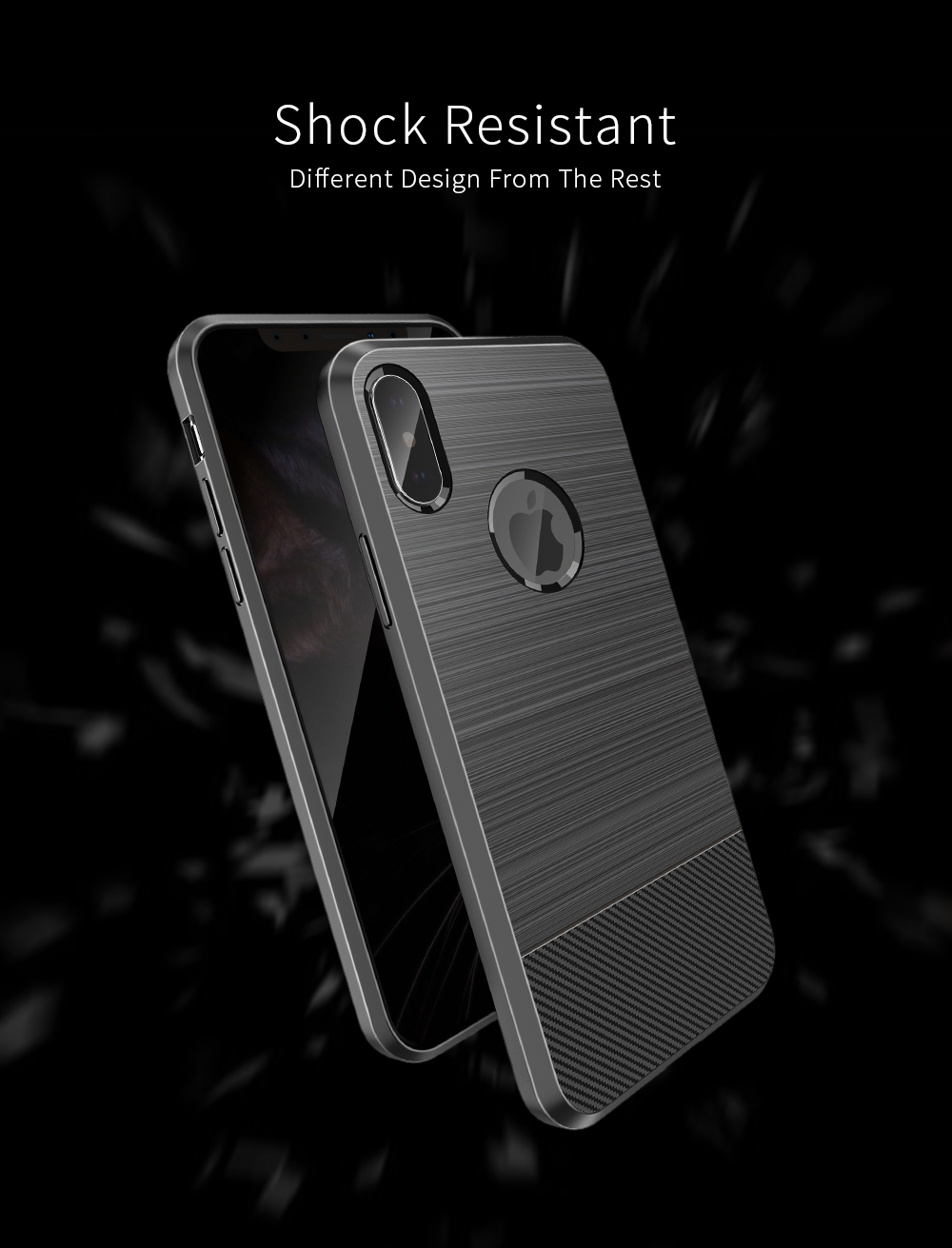 DUX DUCIS Magnetic Heat Dissipation Soft TPU Protective Case for iPhone X