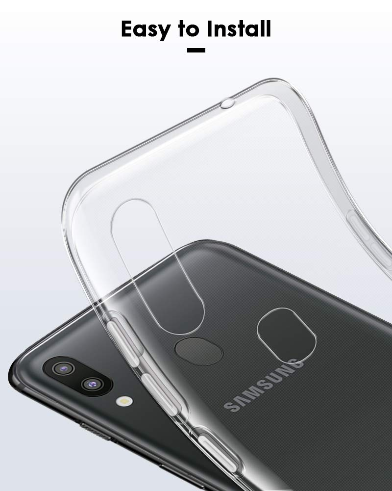 Bakeey Clear Protective Case For Samsung Galaxy M20 2019 Transparent Soft TPU Back Cover