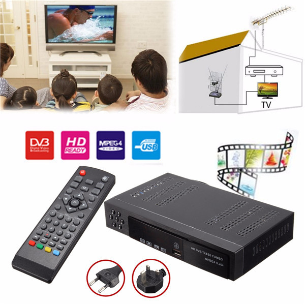 Full HD 1080P Combo DVB-T2 S2 Video Broadcasting Satellite Receiver Box TV HDTV