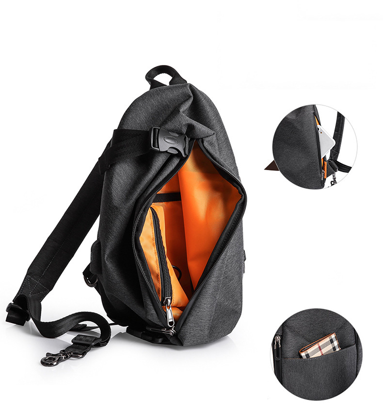 Tangcool TC902 6L Oxford Cloth Oblique Satchels Leisure Waterproof Cycling Small Backpack