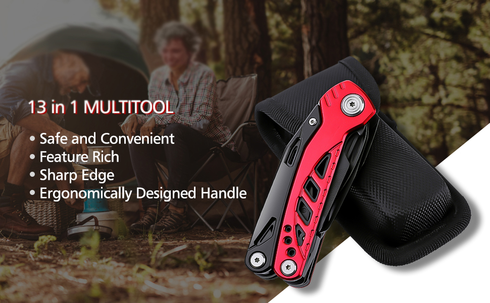 HUOHOU GHK-LP91 13 In 1 Multi-function Folding Tool Kitchen Bottle Opener Sharp Pocket Multitool Pliers Saw Blade Cutter Screwdriver From Xiaomi Youpin