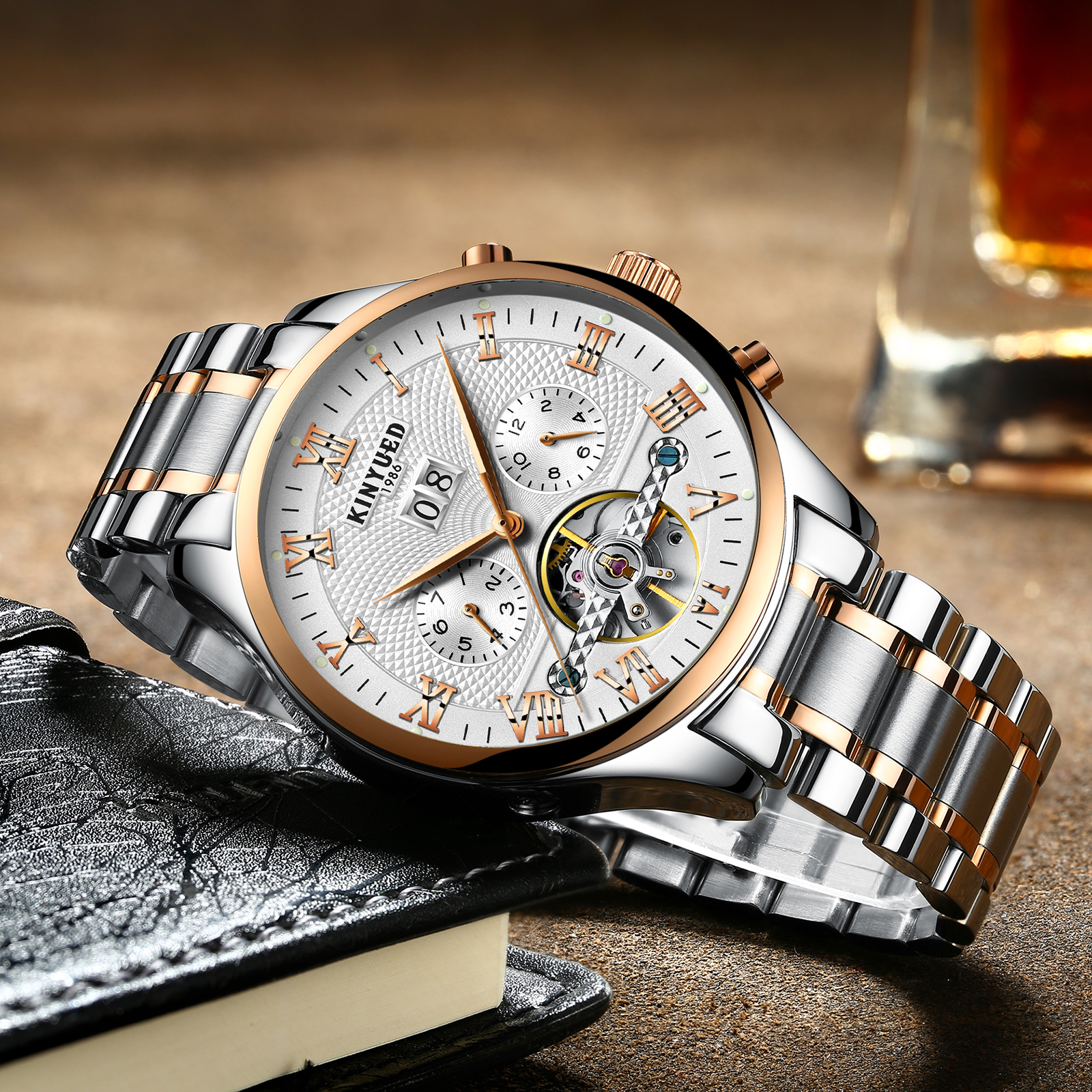 KINYUED JYD-J012 Working Sub-dial Automatic Mechanical Watch
