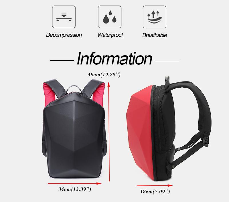 KINGSLONG Men Polygon Travel Bag Solid Casual Backpack