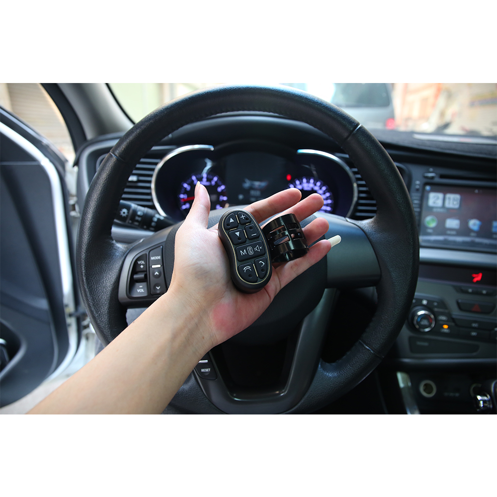 Car Wireless Handsfree bluetooth Steering Wheel Remote Control 8 Button DVD Player with Audio Volume