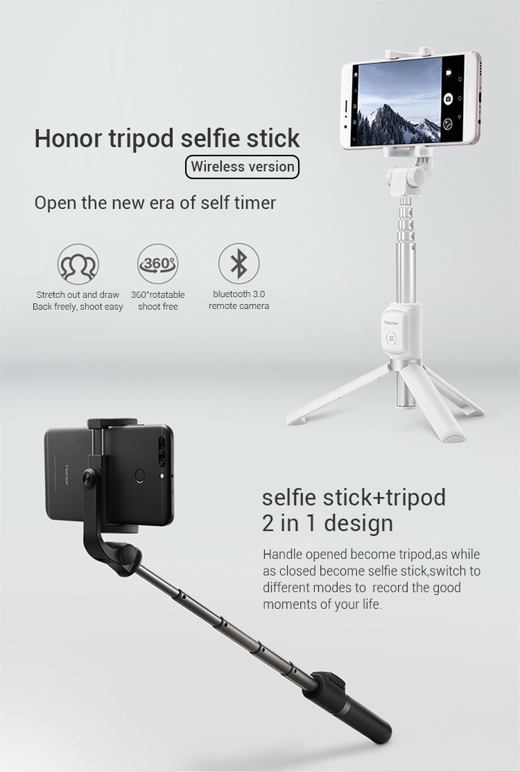 Huawei Honor Selfie Stick Tripod Portable Bluetooth3.0 Monopod for Mobile Phone
