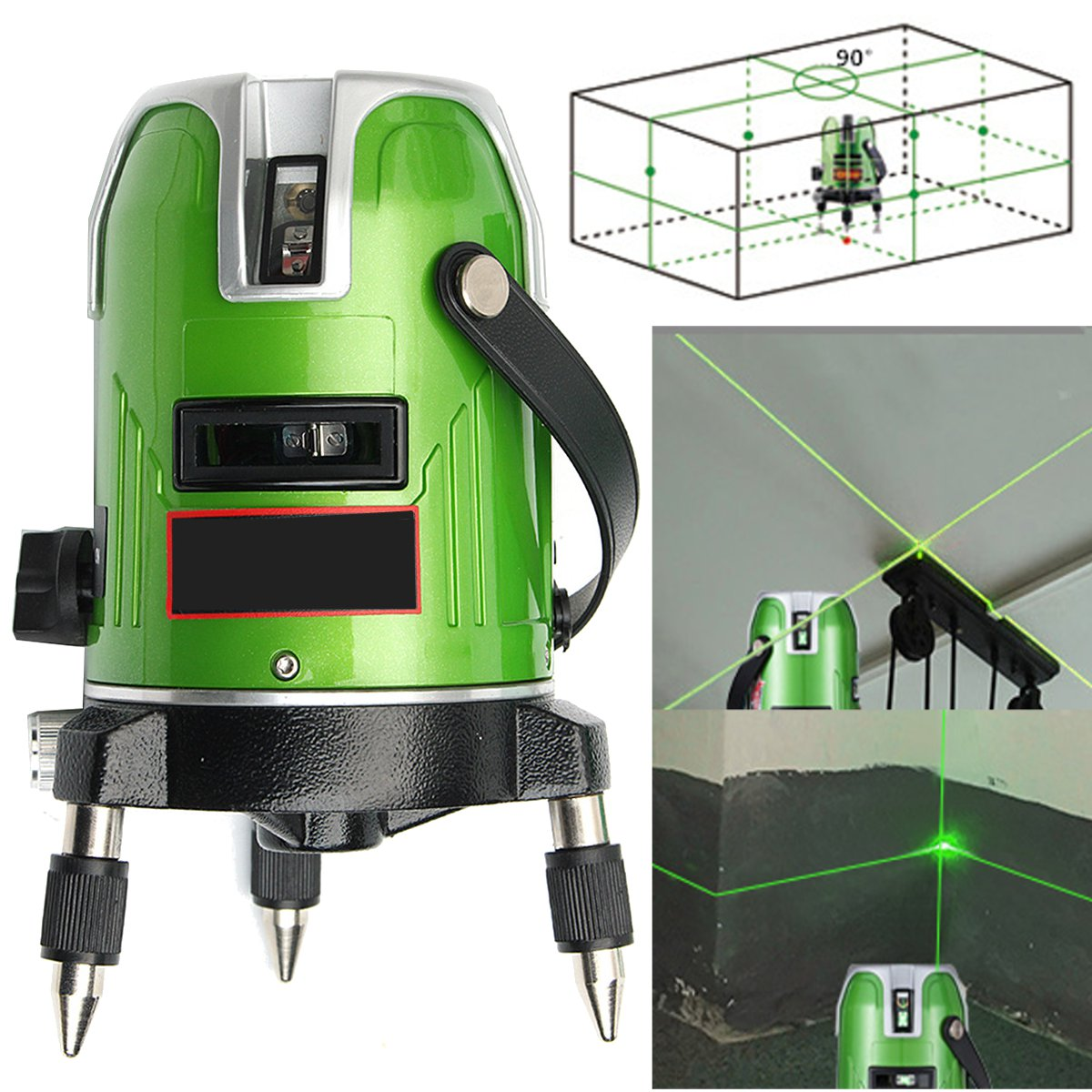 EK-468GJ Green 5 Line 6 Point Laser Level 360 Rotary Line Self Leveling Laser Level