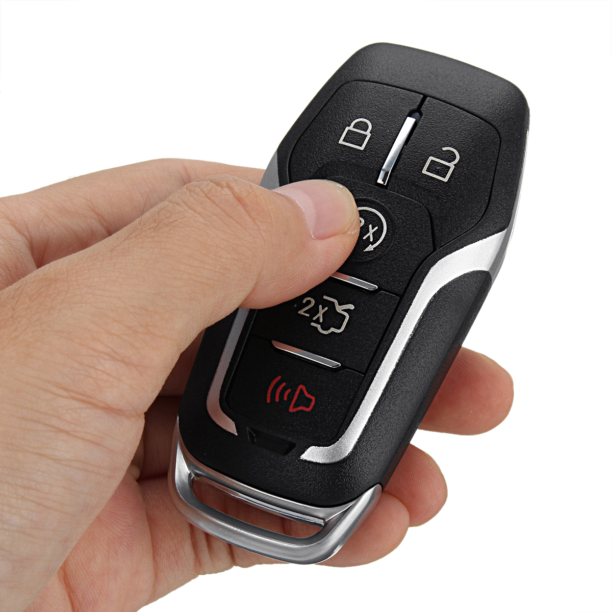 5 Button Remote Key FOB Shell Case Uncut Blade for Ford Fusion Explorer Edge