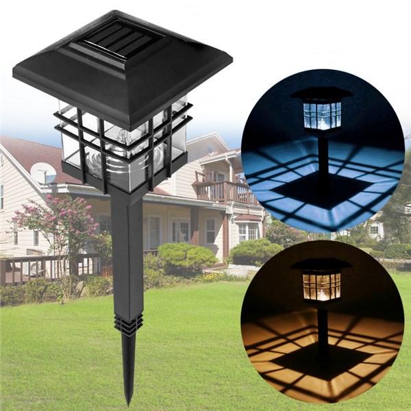 LED Solar Lights Waterproof Column Headlight Lawn Lamp