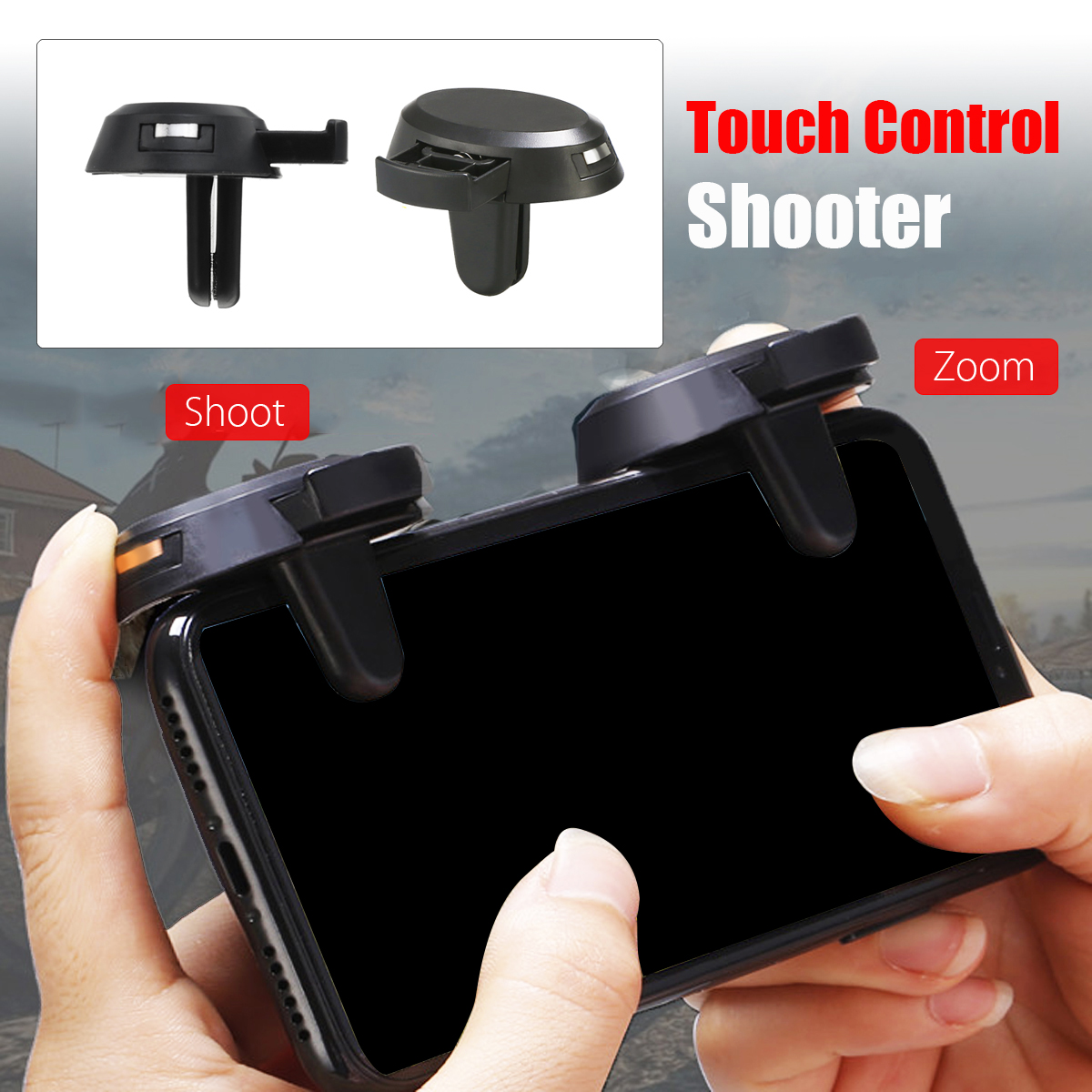 Bakeey Gamepad Controller Trigger Touch Fire Shoot Button Assist Tool for PUBG Mobile Game
