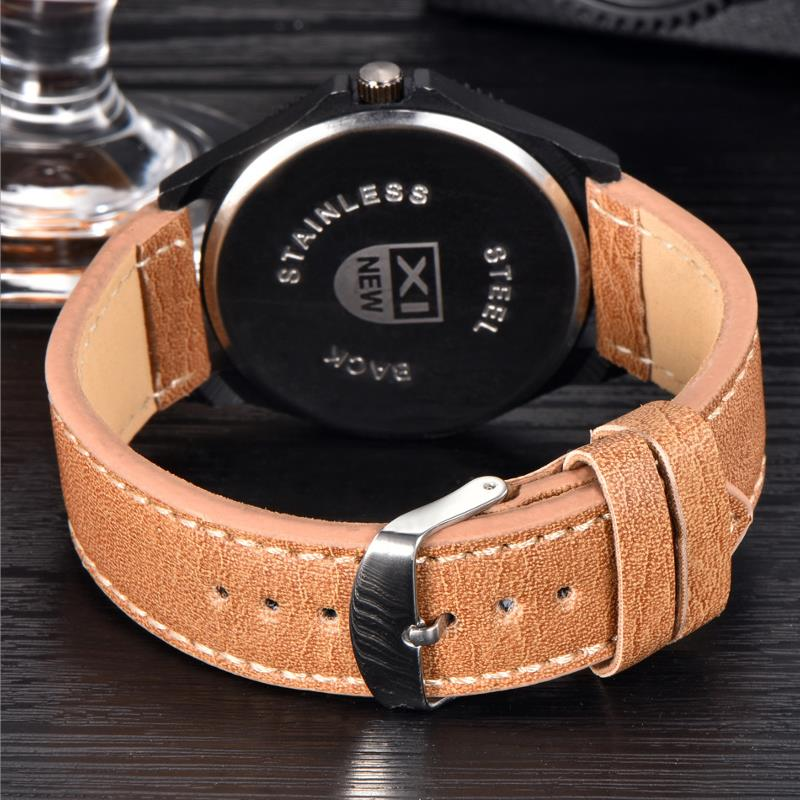 XINEW 2168 Fashion Men Quartz Watch Leather Strap Sport Wrist Watch