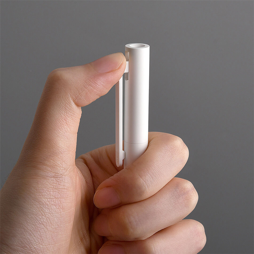Xiaomi 10Pcs Gel Pens No Cap Black Ink Writing Pen White