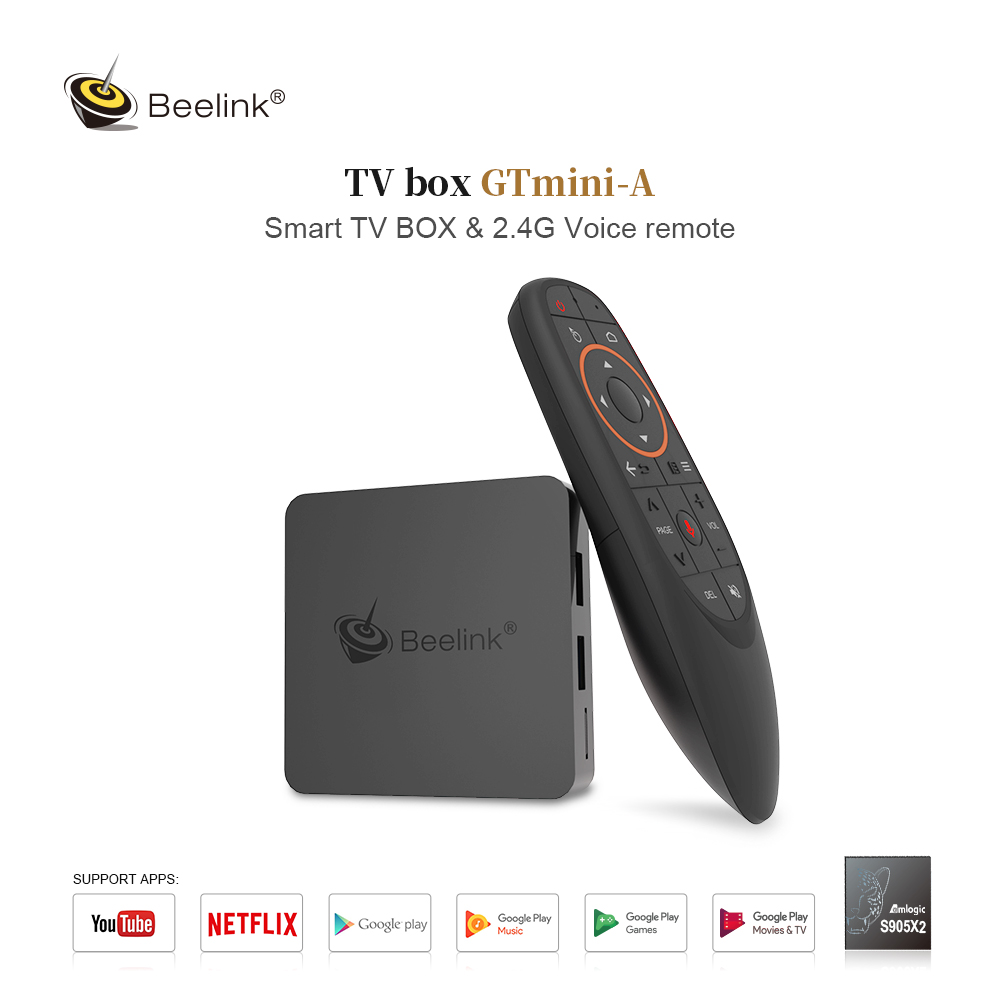 Beelink GT MINI-A S905X2 4GB DDR4 64GB 5G WIFI bluetooth 4.0 ITV8.0 4K HDR 10 VP9 H.265 TV Box Support Voice Remote Control HD Netflix 4K Youtube