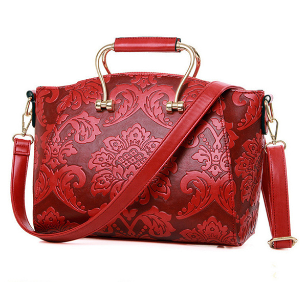 Details: Material PU Leather Color Wine Red, Blue, Army Green Weight 700g Length Below:29cm(11.42'),Above:34cm(13.39') Height 23cm(9.06') Width 15cm(5.91') Handle Height 10cm(3.94') Strap Length 30cm~40cm(11.81'~15.75') Pattern Solid Inner Pocket Main Poc #handbag