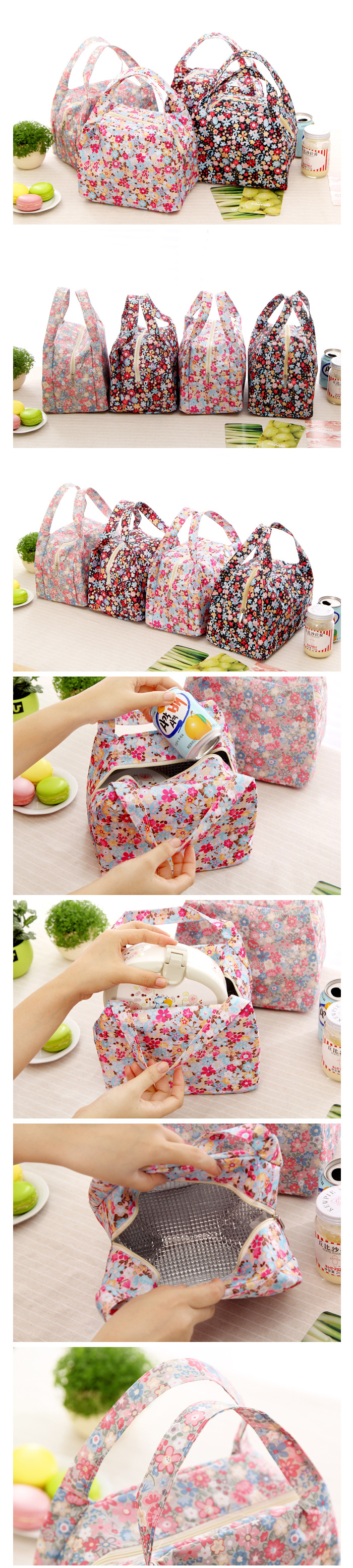 Woman Oxford Waterproof Lunch Tote Bag Travel Picnic Cooler Insulated Summer Beach Storage Container
