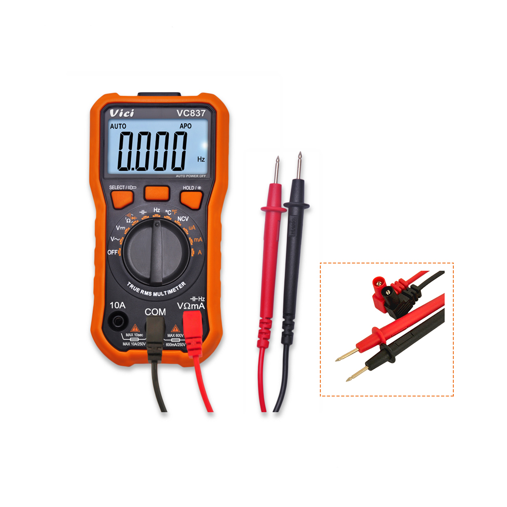 Multimeter Professional 600v Ms8233c 4410301 Lcr Bridge Patch Clamp Measure Smd Universal Clip Multipurpose Test Vc837 3 5 6 Auto Range True Rms Lcd Display Digital Non Contact