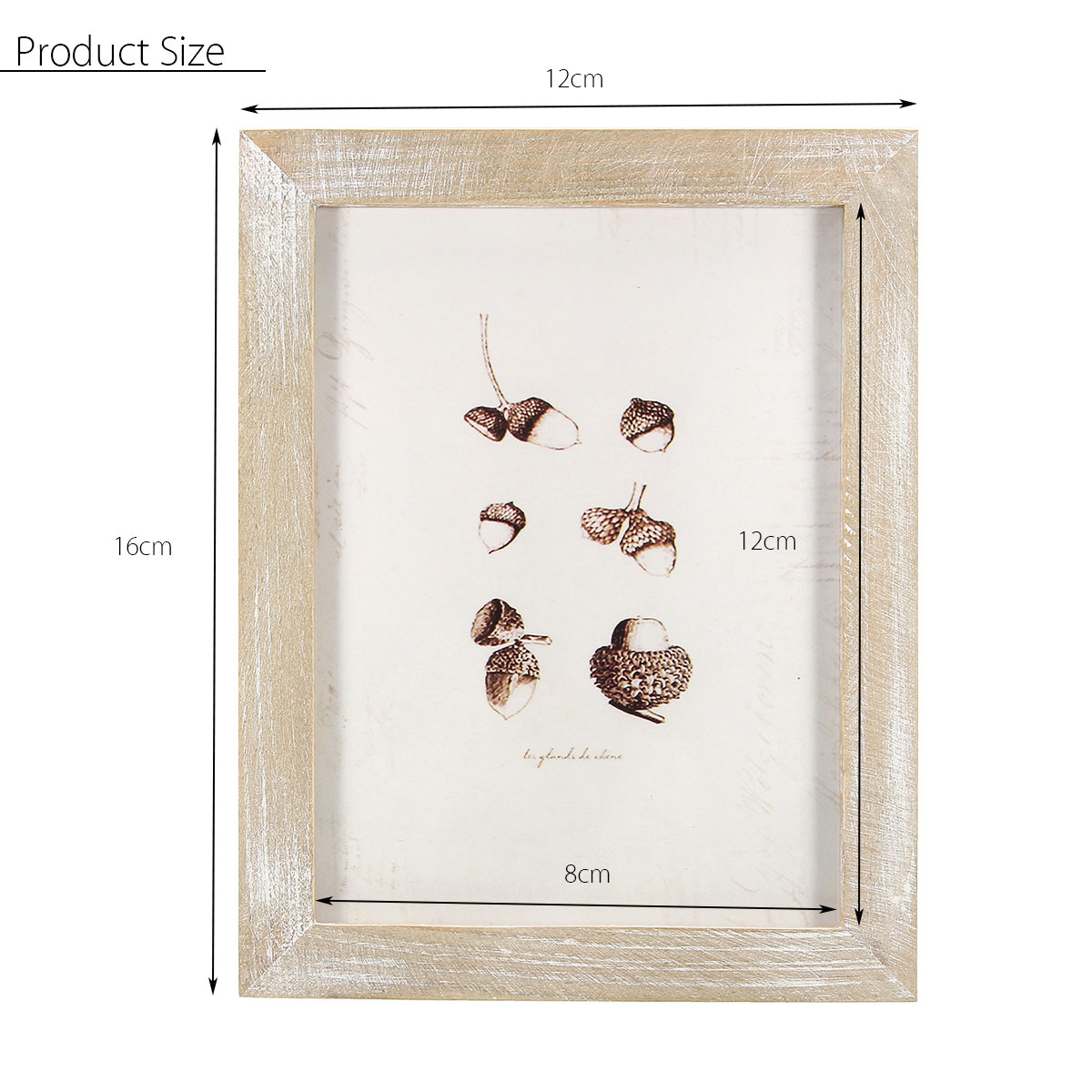 16x12cm/12x8cm Vintage Solid Wood Photo Picture Frame Wall Hanging Shabby Chic Room Decoration
