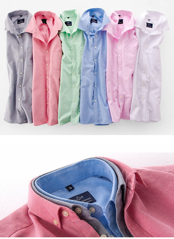 Oxford Soft Comfy Non-Ironing Pure Color Boys Basic Casual Lounge Shirts 10 Colors