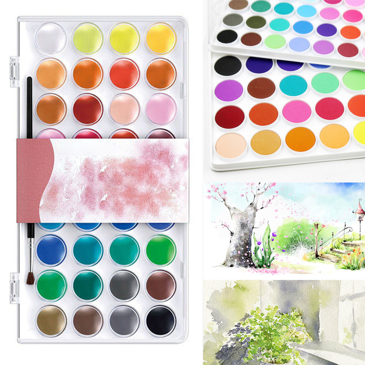 36 Assorted Colors Solid Watercolor Artist Acrylic Paint Pigment Box Set