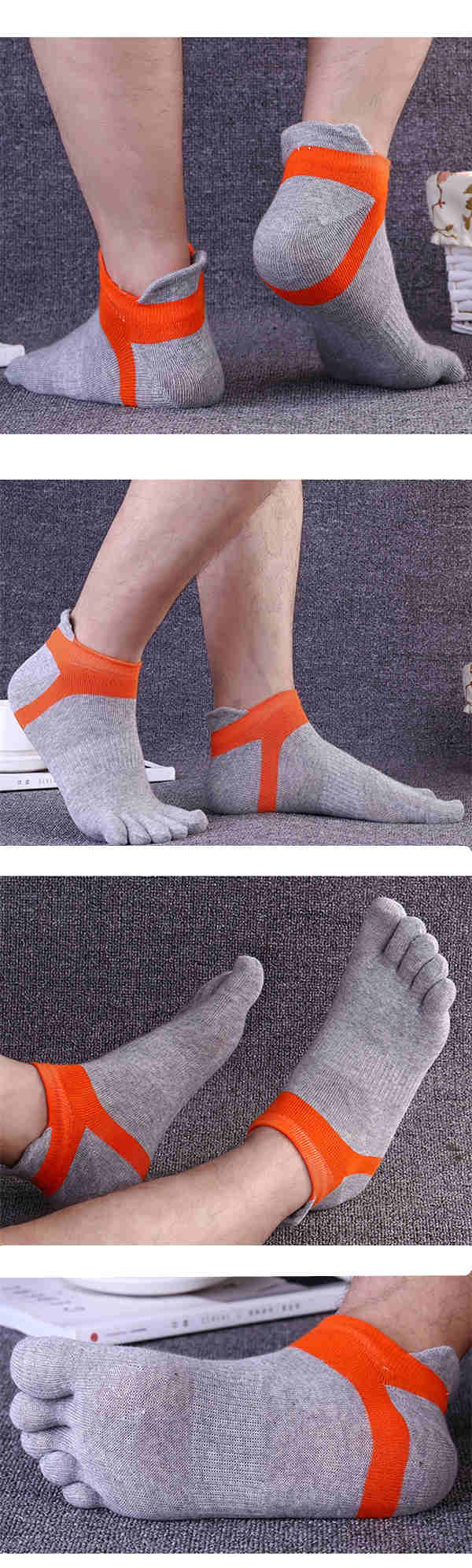 Five Toes Socks Sports Outdoor Anklet Deodorant Anti-bacterial Thick Comfortable Casual Socks