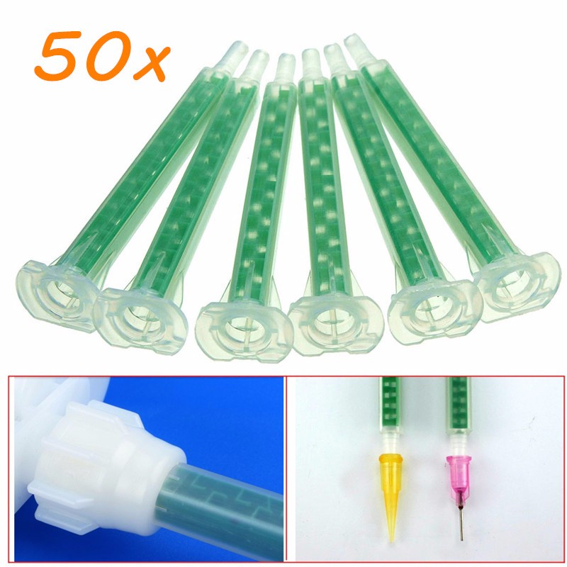 50pcs f6-16 green ab glue mixing tube static mouth section 16 nozzles