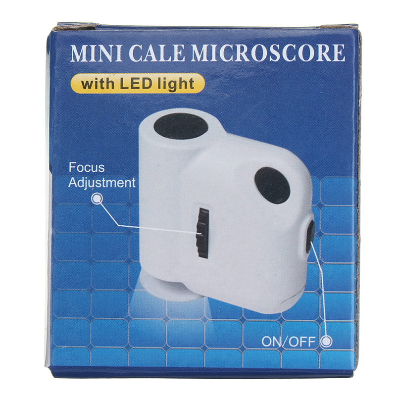 Mini Portable 55X Jewelry Magnifier Identification Loupe Microscope with LED UV Lamp