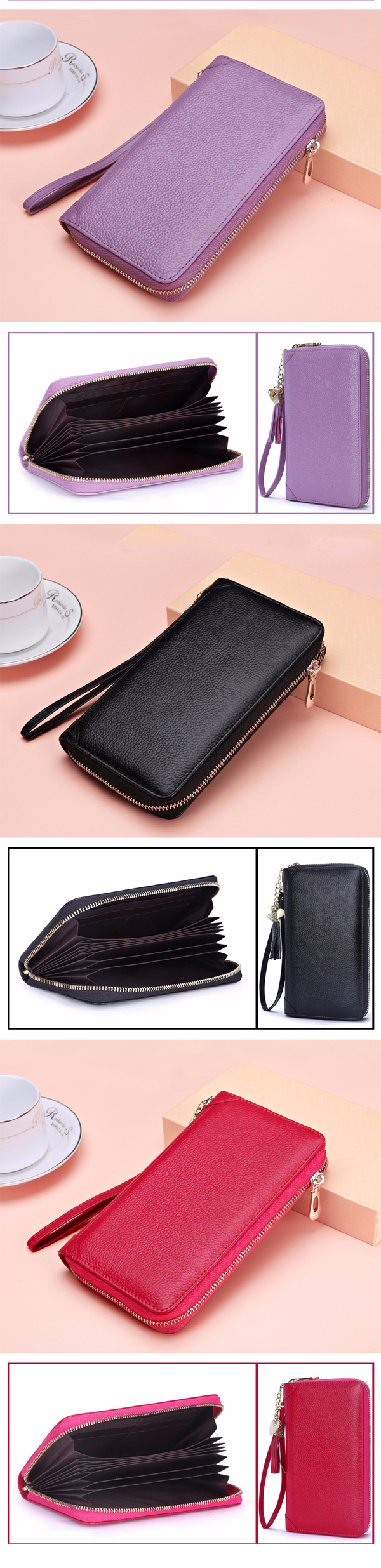 Genuine Leather Korean Tassel Women's Purse