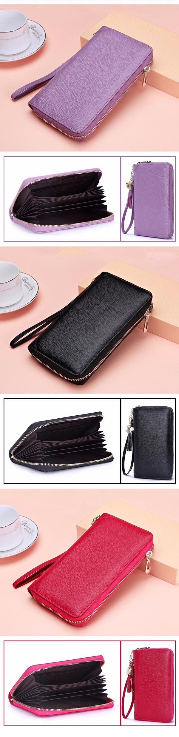 Genuine Leather Korean Tassel Women's Purse