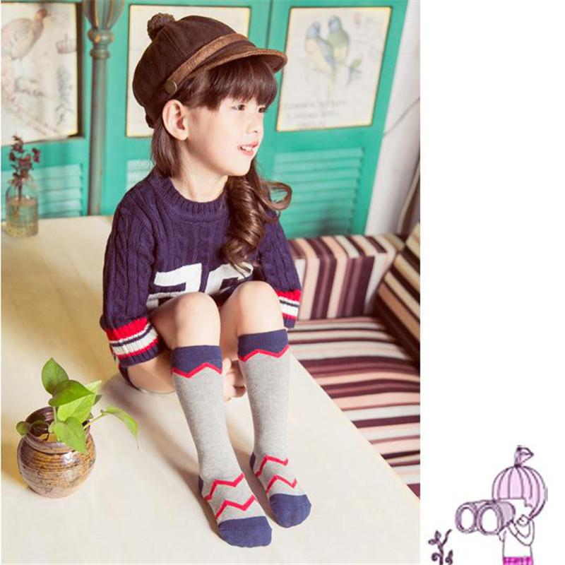 Lovely Socks Stripe Cotton Knee Hosiery Baby Stocking Kids Girls Casual 0-3Years